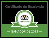 Certificado de Excelencia TripAdvisor 2013